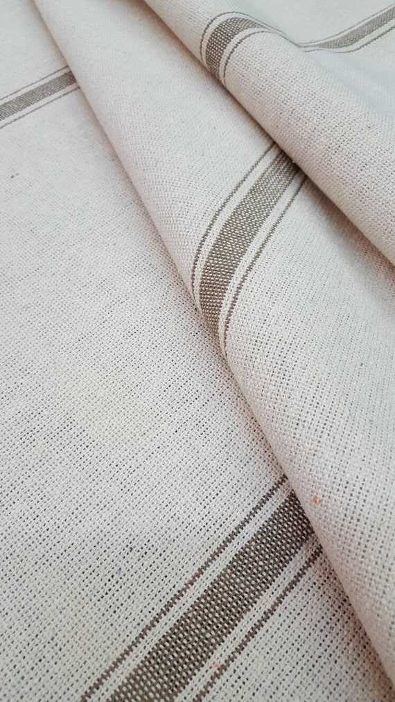 Sale grain sack fabric by the yard cream by sweetannieacres for Fabric for sale by the yard
