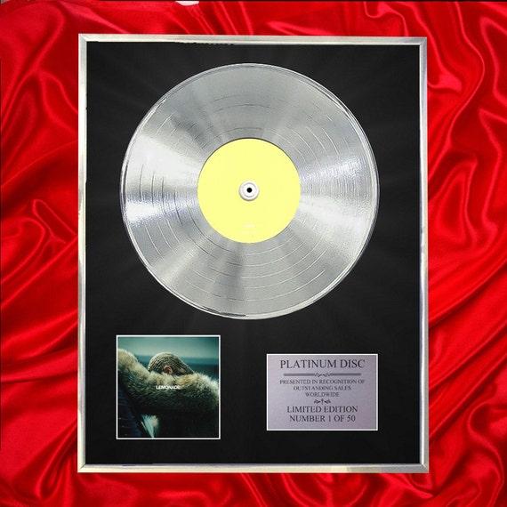 Beyonce Lemonade Cd Platinum Disc Vinyl Record Lp Award