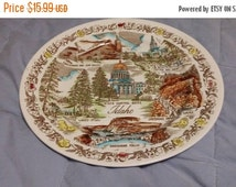 On Sale Vintage Vernon Kilns Idaho 10 inch Collectible Souvenir Plate Home Decor