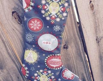 Christmas stocking, Whimsical christmas Stocking, holiday decor