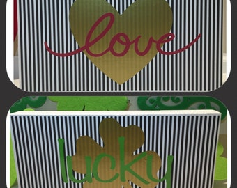 Reversible Valentine's and St. Patrick's Decoration