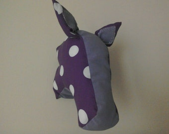 Polkadot horse faux taxidermy