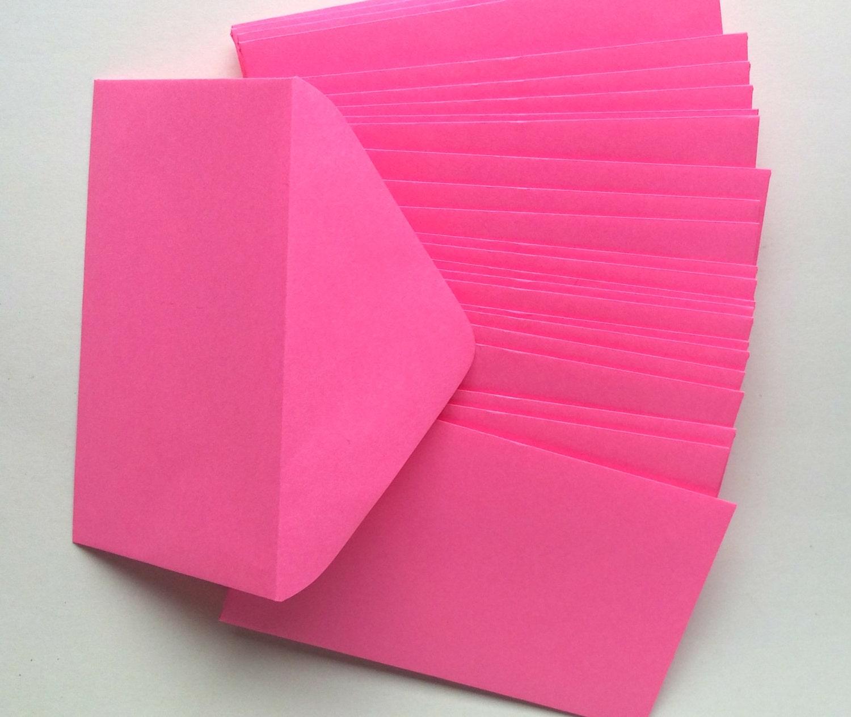 Bright pink florist enclosure cards color