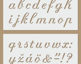 Alphabet (lower case) stencil