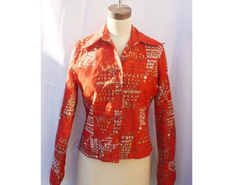 1970s Red Caprice Blouse