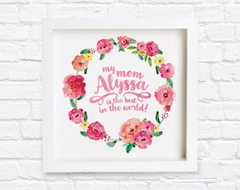 Personalized Printable Mothers Day Poster