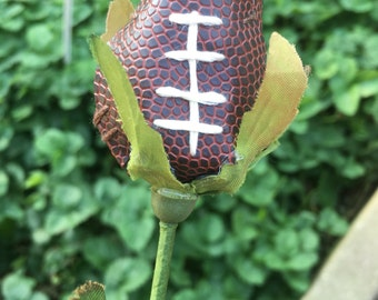 Football Long Stem Roses Football Flowers made from Real Footballs great for gifts