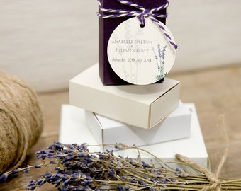 Lavender Small Matchbox Wedding Favours x 50