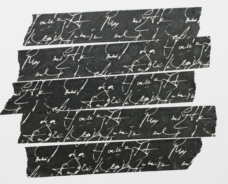 schwarz wei skript schreiben washi tape. Black Bedroom Furniture Sets. Home Design Ideas