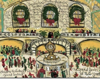 Original signed Painting of Grand Central Jewel of New York by Michelle Winters