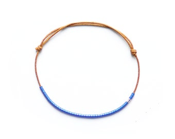 METALLIC BLUE- bracelet