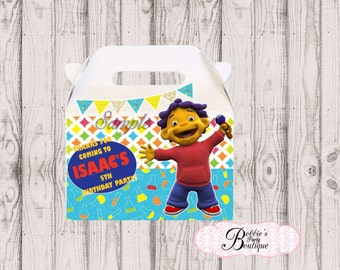 Sid the Science Kid favor box, Sid the Science Kid gable box, 10 Sid the Science Kid party favor gable box, Sid favor box