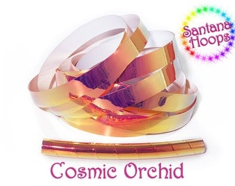 Cosmic Orchid Color shifting Morph Taped Performance Hula Hoop Polypro or HDPE