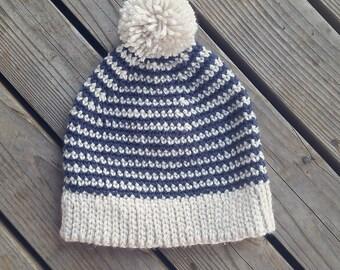 Simple striped crochet hat