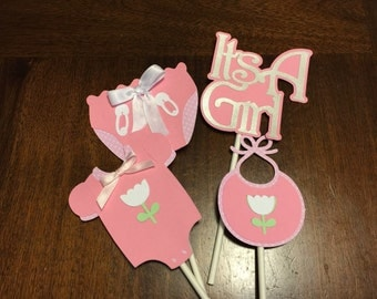 Baby Girls cupcakes Toppers