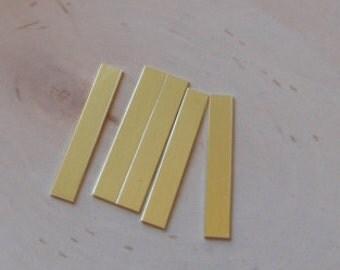 10pc brass rectangle 5/16 inch by 2 inch , brass strips , 20 gauge brass , brass stamping blanks