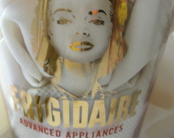 Frigidaire Advertising Measuring Glass 1950s, Designed with You in Mind, Built and Backed by General Motors, Collector's Glass