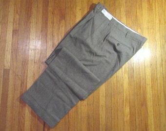 "N.O.S. 1940s-50s ""Rivercool"" Warm Grey Flannel Slacks .:"