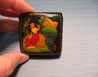 """Russian Lacquered Box - """"Autumn"""" - From the Lucy Maxym Collection - # N322"""