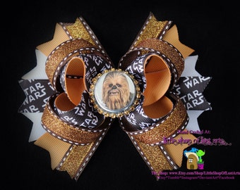 Star wars inspired chewbacca assembled ready to be ahipped boutique bow