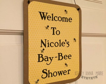 Bee Themed Baby Shower Door Sign What Will It Bee Mommy To Bee Banner