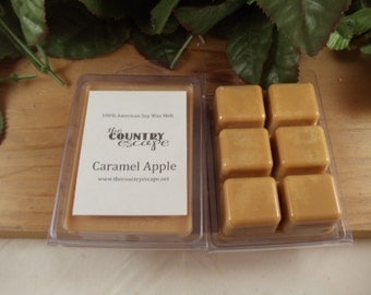 Caramel Apple Scented 100% Soy Wax Melt - Caramel and Green Apples - Maximum Scented