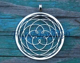 Rose of Venus pendant (1 3/8) - Stainless Steel