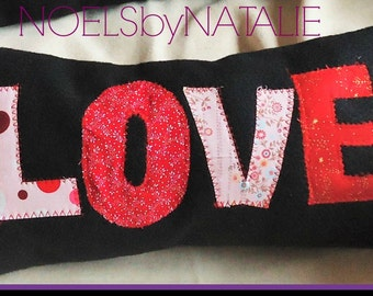 "Valentine ""LOVE"" Decorative Accent Pillow"