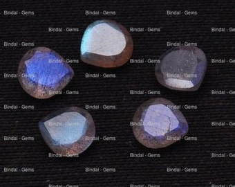 20 Pieces Lot Natural Labradorite Heart Shape Faceted Cut Loose Calibrated Gemstone