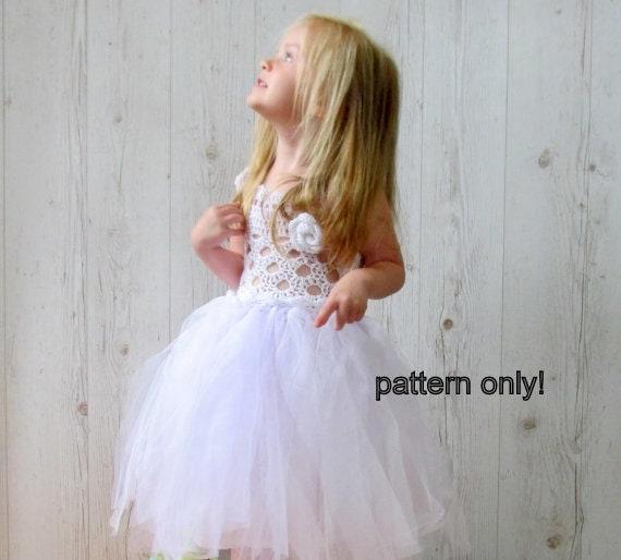 Crochet Baby Tutu Dress Pattern : Crochet tulle dress pattern Crochet PATTERN Tutu dress
