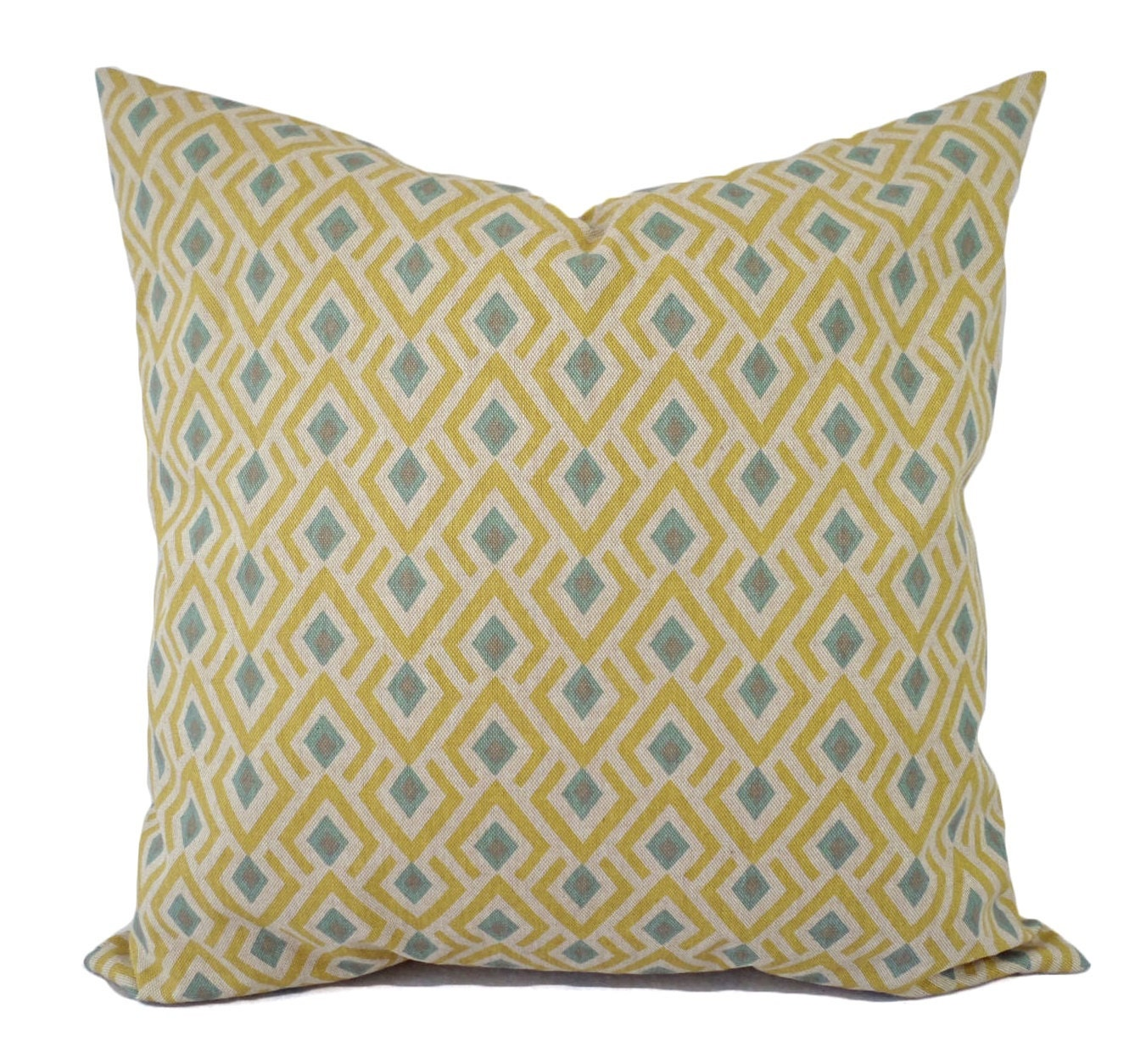 Yellow And Blue Decorative Pillow Covers Two Geometric Throw