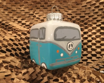 VW Bus Ornament - Teal