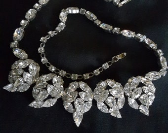Signed Sherman Jewelry / Signed Sherman necklace / Swarovski Crystal Jewelry / jewellery /necklaces/ jewelry/jewellery