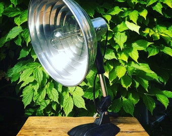 1950's Pifco desk lamp - Industrial style - Repurposed heat lamp - Steampunk