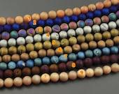 Wholesale lots round matte druzy beads druzy stone druzy quartz agate beads for jewelry making 10mm strand