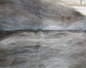 1.6 oz. Alpaca Handcrafted Carded Batt - 100% Natural Blend of 3 Shades of Alpaca Fiber Blended with Lite Blue Angelina