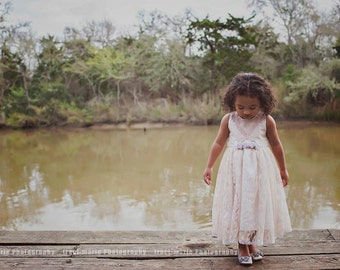 Lace Dress-flowergirl-bridal-photoprop-Loren