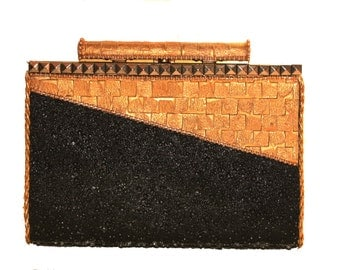 Black and Gold Deco Clutch
