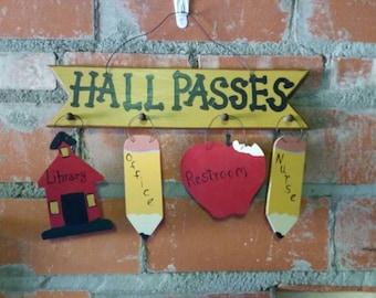 Hall Pass Sign For Teachers's Room.