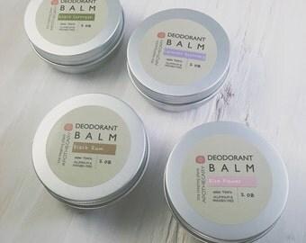 Natural Deodorant, Aluminum Free Deodorant, Skin Care, Safe Deodorant, Deodorant Balm, MULTI PACK Of 4