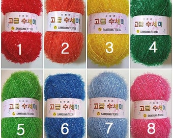 Korean Scrubber Yarn,Polyester yarn,Susemi yarn,Scrubbies yarn