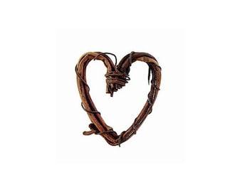 Miniature Grapevine Heart - Natural - 1 inch, 8 Pieces/Pack (dar282515)