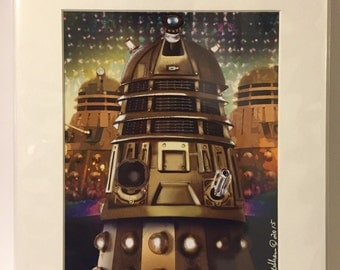 "The Dalek from Dr Who 11x14"" Art Print by deShan"