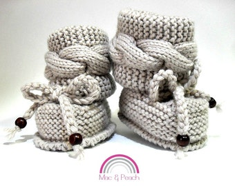 Hand Knit Baby Booties, Knit Booties, Cable Booties, Cute Booties, Tall Booties, Custom Knit Booties, Wool Booties, Baby Booties, Baby Boots