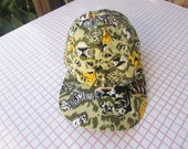Vintage Unisex 90s SI Safari Animal Print Bicycle Cap || One Size Fits All