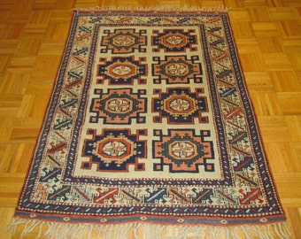 3 x 5 Unique New Antiqued Caucasian Design Rug #136