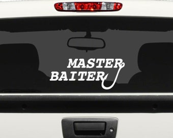 MASTER BAITER Vinyl Decal - Fishing Decal - for Vehicles, Laptop, iPads and more ...