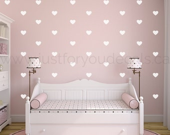 Heart Wall Decal - Nursery Wall Decal - Heart Patterned Wall Decal - Playroom Wall Decal - Play Room Wall Decal - 11-0004