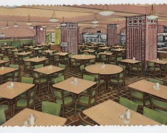 Chicago, YMCA Hotel, YMCA Cafeteria, vintage postcard, Chicago ephemera