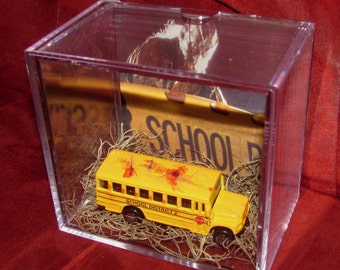 Jeepers Creepers Destroyed Bus Display...Ready to Ship...Brand New Display!!